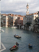 Ships Photos - Gran Canal. Venice by Bernard Jaubert