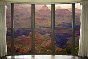 Window Art Framed Prints - Grand Canyon Springtime Bay Window View Framed Print by James Bo Insogna
