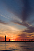 Lighthouse Art - Grand Haven Lighthouse by Adam Romanowicz