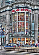 Police Car Framed Prints - Grand Lux Cafe Framed Print by David Bearden