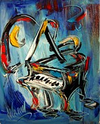 Chicago Photography Painting Posters - Grand Piano Poster by Mark Kazav