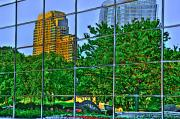 Land Scape Digital Art Prints - Grand Rapids Mi on Glass-17 Print by Robert Pearson