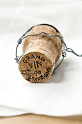 Wine Cork Framed Prints - Grand vin de Champagne Framed Print by Frank Tschakert