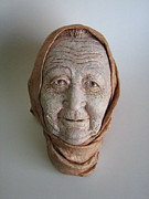 Old Age Sculptures - Grandmother by Erika Takacs