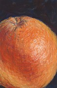 Grapefruit Pastels Prints - Grapefruit Print by Susan Singer