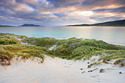 Outer Hebrides Posters - Grass Covered Dunes, Sound Of Taransay, Traigh Rosamal, Isle Of Harris, Outer Hebrides, Scotland Poster by Tim Hurst