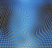 Fundamental Prints - Gravity Waves In Space-time, Artwork Print by Victor De Schwanberg