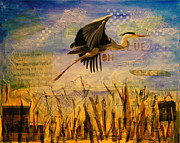 Great Blue Heron Print by Terry Honstead