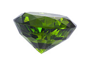 Diamond Jewelry - Great Emerald Isolated by Atiketta Sangasaeng