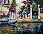 Canal Street Paintings - Greece by Leonid Afremov