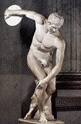 Roman Statue Prints - Greece: The Discobolus Print by Granger
