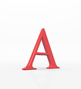Spelling Digital Art Prints - Greek Letter Alpha, Upper Case Print by David Parker