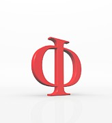 Art Product Digital Art Prints - Greek Letter Phi, Upper Case Print by David Parker