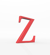 Spelling Digital Art Prints - Greek Letter Zeta, Upper Case Print by David Parker