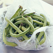 Green Bean Framed Prints - Green Beans Framed Print by David Munns