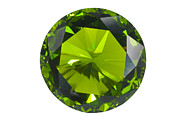 Diamond Posters - Green Gem Isolated Poster by Atiketta Sangasaeng