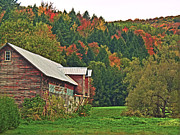 Vermont Autumn Originals - Green Mountain Barn by William Fields