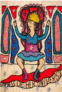 Greeting Card Tapestries - Textiles - Greeting Card - Empress by Jude Ongley-Mowris