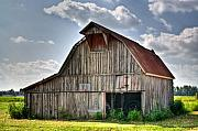 Outbuilding Framed Prints - Grey Barn Framed Print by Douglas Barnett