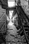 Al Capone Photo Posters - Grim Cell Block in Philadelphia Eastern State Penitentiary Poster by Gary Whitton