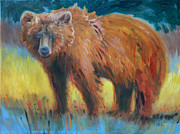 Grizzly Bear Paintings - Grizzly by Donald Maier