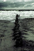 Flood Photo Prints - Groyne Print by Joana Kruse