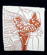 African Ceramics Ceramics Prints - Guardian Angel - tile Print by Gloria Ssali