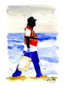 Bayous Painting Prints - Gulf Clean Up Print by Paul Gaj