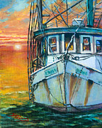 Gulf Framed Prints - Gulf Coast Shrimper Framed Print by Dianne Parks