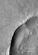 Featured Metal Prints - Gullies On Mars Metal Print by Nasa
