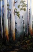 Landscapes Reliefs - Gumtrees After The Rain by John Cocoris