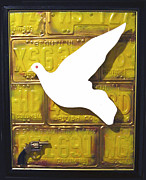 Peace Dove Mixed Media - Gunning For Peace by Bill  Thomson