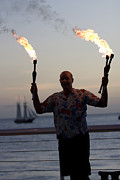 Juggling Photo Prints - Guy Collins at Key West Print by Purcell Pictures