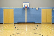 Basketball Sports Prints - Gymnasiumsports Hall In A Modern Print by Iain  Sarjeant