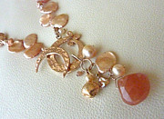 Peach Colored Originals - Gypsy Rose Moon Necklace Detail by Marta Eagle