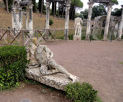 Greek Sculpture Prints - Hadrians Villa Print by Mindy Newman