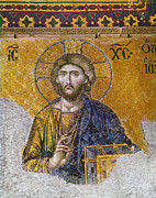 New Testament Photos - Hagia Sophia: Mosaic by Granger