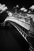 Halfpenny Prints - Halfpenny Hapenny Bridge Over The River Liffey In The Centre Of Dublin Ireland Print by Joe Fox