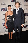 Halle Berry Prints - Halle Berry, Gabriel Aubry At Arrivals Print by Everett