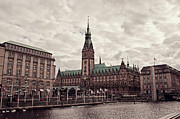 City Hall Prints - Hamburg city hall Print by Benjamin Matthijs