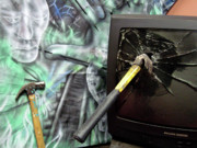 T.v. Mixed Media - Hammer Time by Leigh Odom
