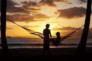 Newlywed Posters - Hammock at Sunset Poster by Larry Dale Gordon - Printscapes