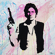 Murakami Art - Han Solo by Mr Babes