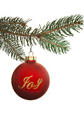 Christmas Ornament Posters - Hanging Christmas Ornament Poster by Andrew Soundarajan