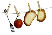 Bread Line Prints - Hanging food Print by Blink Images