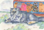 Feline Paintings - Hannah by Marsha Elliott