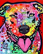 Pitbull Art - Happy Bull by Dean Russo