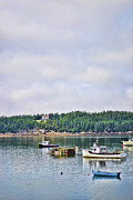 Lobster Fishermen Framed Prints - Harbor Time Framed Print by Traci Cottingham