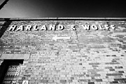 Wolff Posters - Harland Wolff Shipyard Makers Of The Titanic In Titanic Quarter Belfast Northern Ireland Uk Poster by Joe Fox