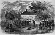 Defeated Framed Prints - Harpers Ferry Insurrection, 1859 Framed Print by Photo Researchers